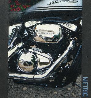Metric 2007 36x38 Original Painting - Frank Jakum