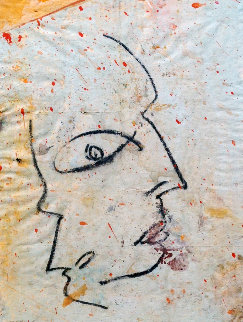 Profile 1 2003 19x22 Original Painting by  Jamali