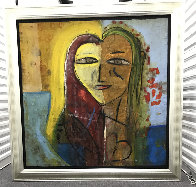 Sarah's Heart 2005 45x45 Super Huge Original Painting by  Jamali - 1