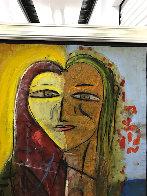 Sarah's Heart 2005 45x45 Super Huge Original Painting by  Jamali - 3