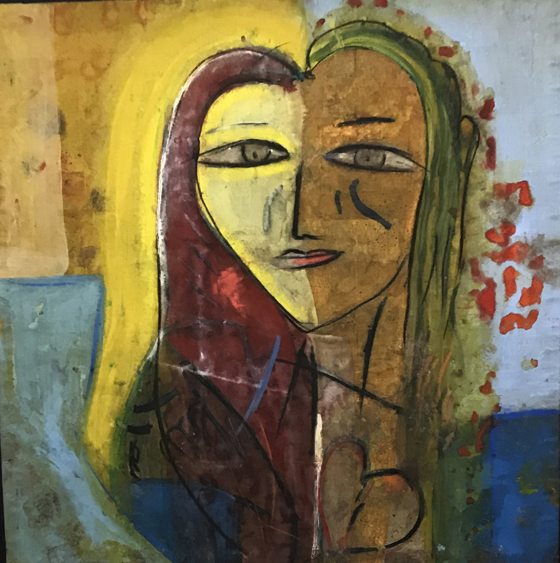 Sarah's Heart 2005 45x45 Super Huge Original Painting by  Jamali
