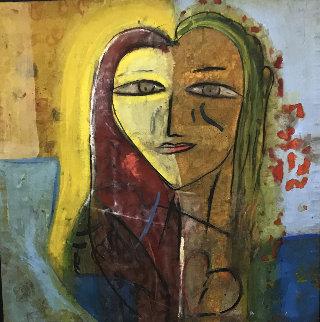 Sarah's Heart 2005 45x45  Huge Original Painting -  Jamali
