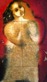 Untitled Painting 2000 74x50 Original Painting by  Jamali