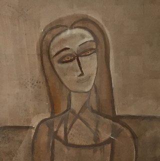 Untitled Portrai 1990 48x48 Huge Original Painting -  Jamali