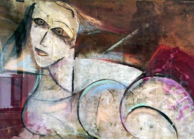 Untitled Painting 42x62 Original Painting by  Jamali