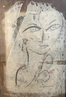 Bianca Oil on Cork 58x40 Huge Original Painting -  Jamali