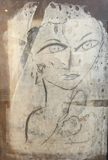 Bianca Oil on Cork 58x40 Original Painting by  Jamali