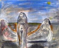 Bathers Suite of 4 Paintings 1982 33x58 Super Huge Original Painting by  Jamali - 2