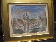Bathers Suite of 4 Paintings 1982 33x58 Super Huge Original Painting by  Jamali - 4