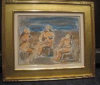 Bathers Suite of 4 Paintings 1982 33x58 Super Huge Original Painting by  Jamali - 5