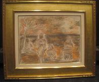 Bathers Suite of 4 Paintings 1982 33x58 Super Huge Original Painting by  Jamali - 6