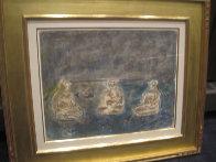 Bathers Suite of 4 Paintings 1982 33x58 Super Huge Original Painting by  Jamali - 7