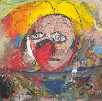 Untitled Painting 2001 45x45 Huge Original Painting -  Jamali