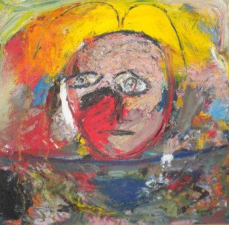 Untitled Painting 2001 45x45 Original Painting by  Jamali