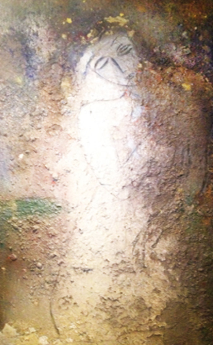 Seated Figure 1995 84x60 Huge Original Painting by  Jamali