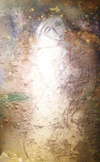 Seated Figure 1995 84x60 Super Huge Original Painting -  Jamali