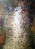 Seated Figure 1995 84x60 Huge Original Painting by  Jamali - 1