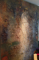 Seated Figure 1995 84x60 Huge Original Painting by  Jamali - 3