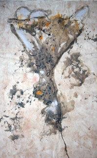 Untitled Painting 2004 35x27 Original Painting by  Jamali