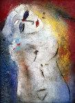 Glamorous Greta 1989 57x43 Original Painting -  Jamali