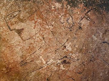 Untitled Fresco on Cork 36x43 Huge Original Painting -  Jamali