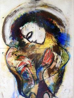 Phoenix Original Pastel 1970 55x71 Original Painting by  Jamali
