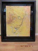Yellow Fresco 2006  34x40 Original Painting by  Jamali - 1