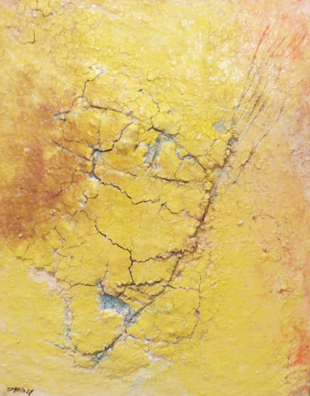 Yellow Fresco 2006  34x40 Original Painting by  Jamali