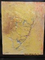 Yellow Fresco 2006  34x40 Original Painting by  Jamali - 5