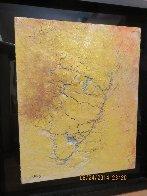 Yellow Fresco 2006  34x40 Original Painting by  Jamali - 6