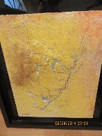 Yellow Fresco 2006  34x40 Original Painting by  Jamali - 7