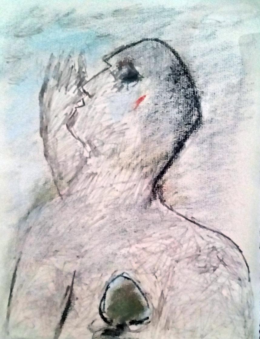 Untitled Drawing 21x18 Drawing by  Jamali