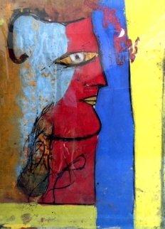 Profile on Cork 55x74 Huge Original Painting -  Jamali
