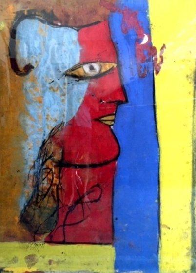 Profile on Cork 55x74 Original Painting by  Jamali