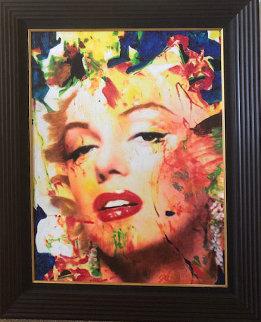 Marilyn  No4702 Original Acrylic  36 x 29 Original Painting - James F. Gill