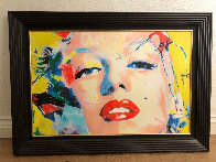 Marilyn Monroe  2007 28x40 Original Painting by James F. Gill - 2