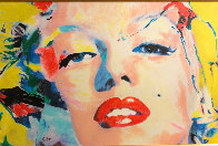 Marilyn Monroe  2007 28x40 Original Painting by James F. Gill - 1