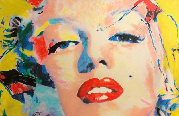 Marilyn Monroe  2007 28x40 by James F. Gill