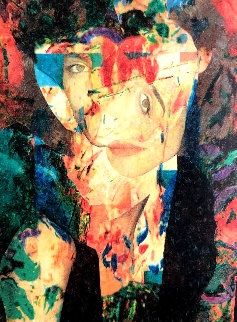 Untitled Painting - Abstract Portrait 2007 55x43 Original Painting by James F. Gill