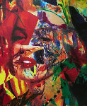 Scarlet Marilyn 2007 59x43 Original Painting - James F. Gill