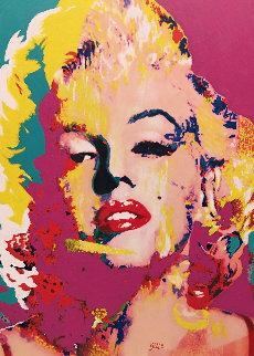 Portrait Marilyn II 2008 46x35 Original Painting - James F. Gill