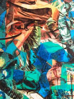 Spatial Illusionism....trace of Mimetic (Portrait of John Lennon) 2007 55 x 43.75  Original Painting - James F. Gill