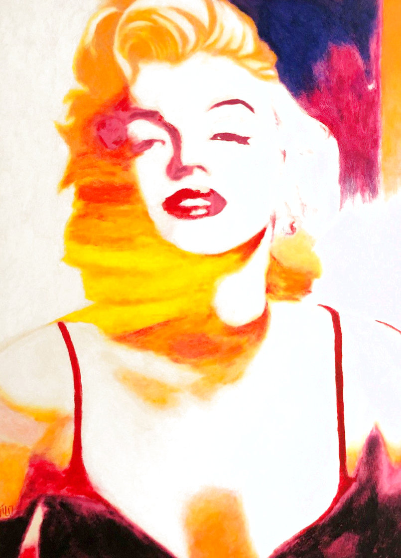 Marilyn Pose 6 2007 45x35 - Huge Original Painting by James F. Gill