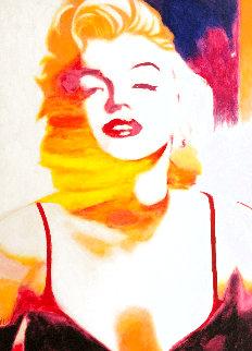 Marilyn Pose 6 2007 45x35 Original Painting - James F. Gill
