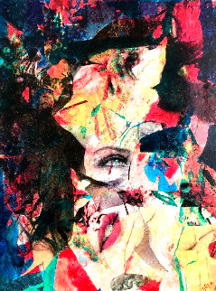 Rise to the Depths of Beauty (Marilyn Monroe) 2007 55x43 Original Painting - James F. Gill