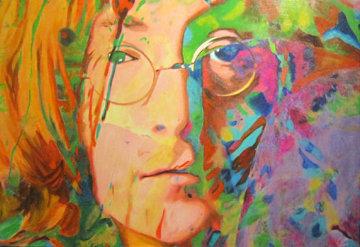 Lennon Gaze 2007 (John Lennon) Original Painting - James F. Gill