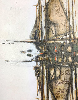 Sailboat Reflection 1970 15x12 Works on Paper (not prints) - James Groody