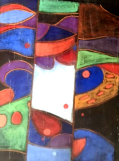 Untitled Painting 1960 26x22 Original Painting - James Groody