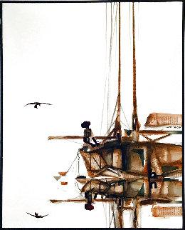 Raising The Sails 31x25 Original Painting - James Groody