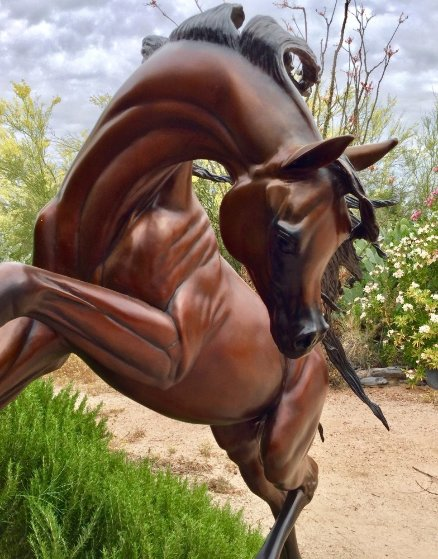 Freedom Bronze Life Size Sculpture 2016 74 in Sculpture by J. Anne Butler
